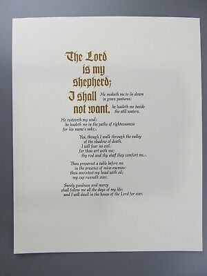 The 23rd Psalm, Privately Printed, Adagio Press, Limited to 192 Numbered Copies