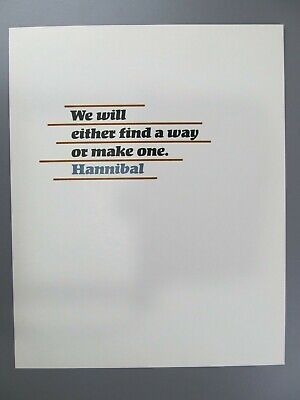 We Will Either Find a Way or Make One, Hannibal Broadside, Adagio Press, 1987