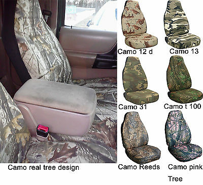 2005-2012 FORD RANGER 60/40 HIGH BACK CAR SEAT COVERS Camouflage choose