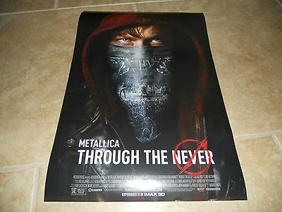 Metallica - Through The Never Promo-Only POSTER Promotional Press IMAX Movie