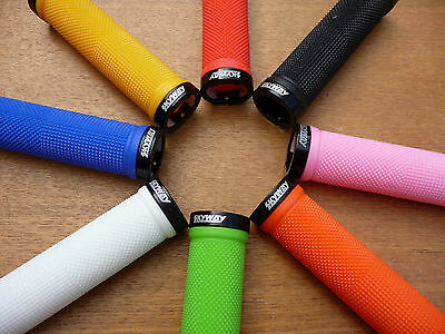 Skyway >>Locking<< BMX Grips Lock On Tuff Bike Bicycle Cycle pair 8 colours New