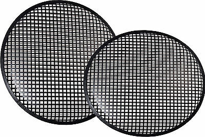 "New Pair 6.5"" Speaker Grills Covers Subwoofer Box Metal Mesh Black Grille"