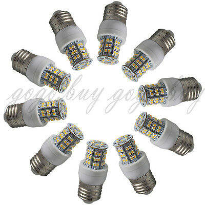 10pcs E27 Screw Socket 48 SMD LED Warm White Spotlight Spot Light Bulb 220V New