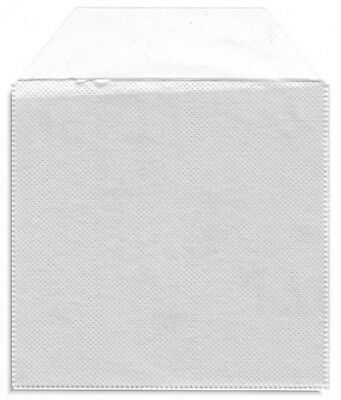 200 2-Disc Clear Poly Sleeve w/ FULL ADHESIVE BACKING & Cloth Divider, CLEARANCE