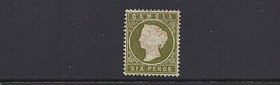 GAMBIA 1886-93 QV (SG 32 6d) F/VF USED