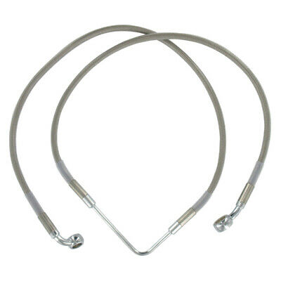 """Front +4"""" Stainless Braided Brake Line 2006-2007 Harley-Davidson Dyna Wide Glide"""