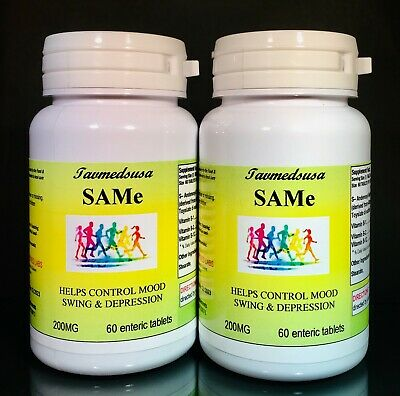 SAM-e 200mg, depression, mobility, knees, pain ~ 120 (2x60) tablets. Made in USA