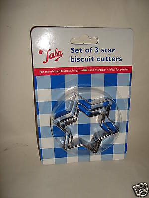 New Tala Star Biscuit Pastry Cutters Stainless Steel set 3