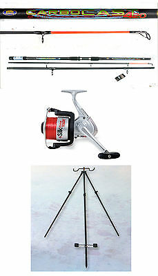 Lineaeffe Carbocast beachcaster rod 14ft 3-7oz carbon & Silk reel + tele tripod