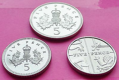 Royal Mint 5P Five Pence Proof Coins Various Years