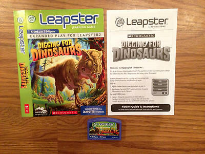 EUC! LeapFrog Leapster Learning Game  Scholastic Digging for Dinosaurs