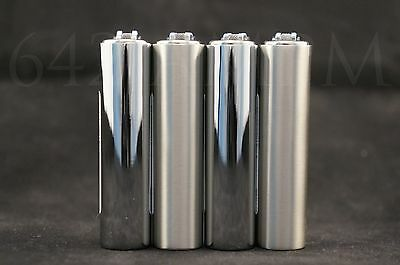 4 pcs New Refillable Clipper Mini Size Lighters With Metallic Removable Cover