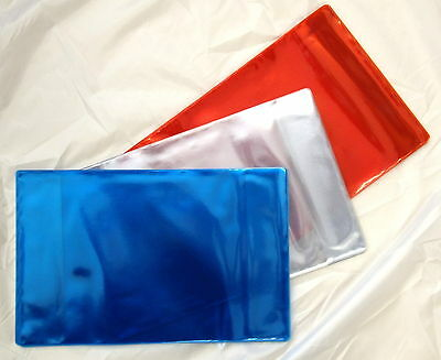 10x A4 PROTECTIVE PLASTIC COVERS FOR SCHOOL EXERCISE BOOKS (CLEAR) 298mm x 425mm