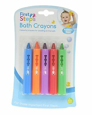 Baby Bath Crayons Pack of 6 Non Toxing Education Fun Toy Easy Washable crayoning