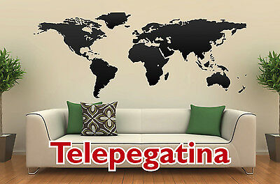 VINILO DECORATIVO PARED MAPA MUNDIAL 140x60 MAPAMUNDI WORLD MAP WALL STICKER