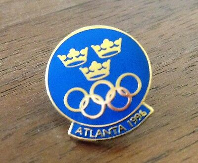 Sweden Atlanta 1996 National Olympic Committee NOC Pin