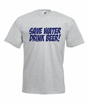 3bb5309c87813 SAVE WATER DRINK BEER funny NEW Men Women T SHIRTS TOP size 10 12 s m l xl