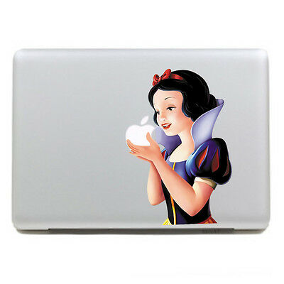 "1x Snow White Macbook Air/Pro 11"" Removable Vinyl Sticker Skin Decal Cover"