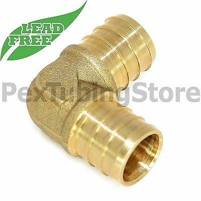 "(5) 3/4"" PEX Elbows - Brass Crimp Fittings, LEAD-FREE"