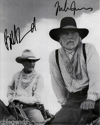 LONESOME DOVE Robert Duvall &Tommy Lee Jones B&W Autographed 8x10 Reprint DOVE02