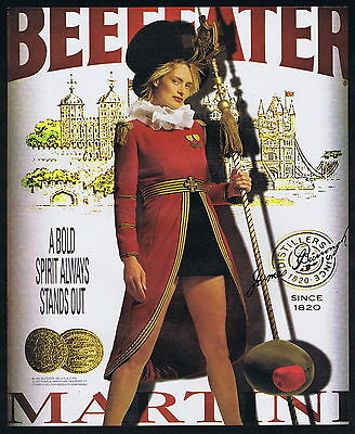 2000 Beefeater London Gin Pretty Royal Guard Olive Print Ad