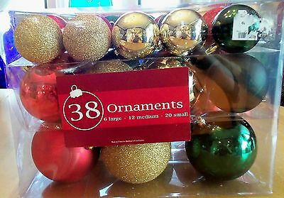 Christmas Ornaments Set of 38 Assorted