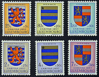 LUXEMBOURG timbres/Stamps Yvert et Tellier n°534 à 539 (r) n** (cyn8)