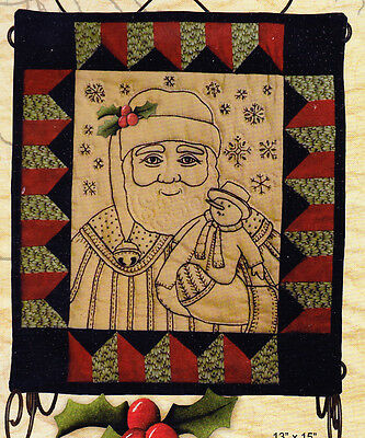 CLEARANCE - Make Merry - stitchery & pieced Christmas mini quilt PATTERN