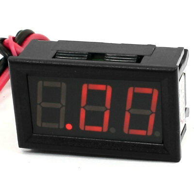 Red 7-Segment LED Digital Display 4 Wired Ammeter Meter DC 0-10A