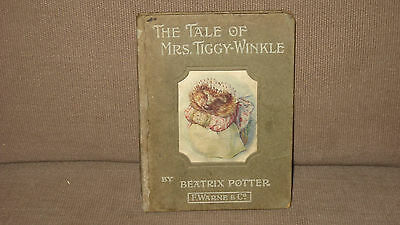 The Tale of Mrs. Tiggy-Winkle 1905 1st Edition Ed Book Rare in the USA Fair
