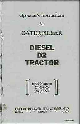 CATERPILLAR Diesel D-2 Operator's Instructions