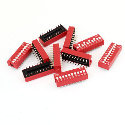 "10pcs DIP Switch 20 Pins 10 Positions Sliding Toggle Switches 2.54mm 0.1"" Pitch"