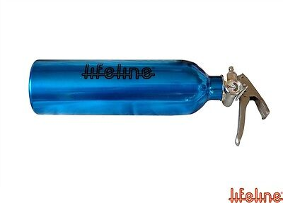 Lifeline 1.0kg ABC Dry Powder Hand Held Fire Extinguisher Blue