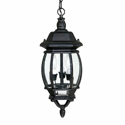 Capital Lighting 9864BK 3 Light French Country Hanging Outdoor Pendant