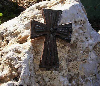 Cast Iron Mini Cross Nail Christian Crucifix Country Rustic Decor Primitive #110
