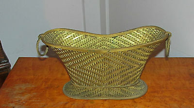 Antique French ? Woven Bronze Decorative Basket