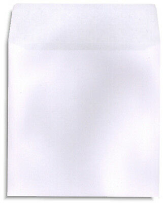 200-Pak White Paper CD/DVD Sleeves with NO Window and With Flap!  100gram weight