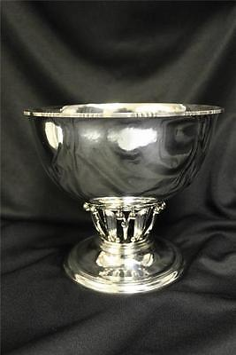 Large A size Signed Georg Jensen Compote or Fruit bowl,