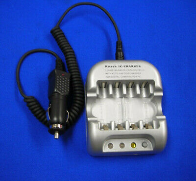 12v Car Charger for 2/4 AA/AAA Sony,Duracell,Enerizer,Panasonic...Rechargeable