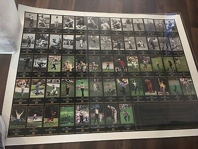 Masters Champions Uncut Sheet Signed Masters Card 25 Signed 4 Arnold Palmer COA