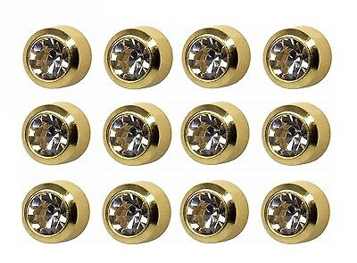 Ear Piercing Earring Studs Standard April C/Z Gold Plated Surgical Steel 12 Pair