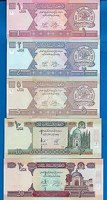 Afghanistan P-64,65,66,67,68 Uncirculated Banknotes SET-A14