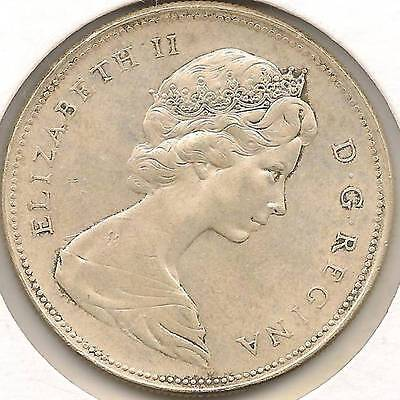 1966, large beads,Uncirculated Canadian SILVER Dollar