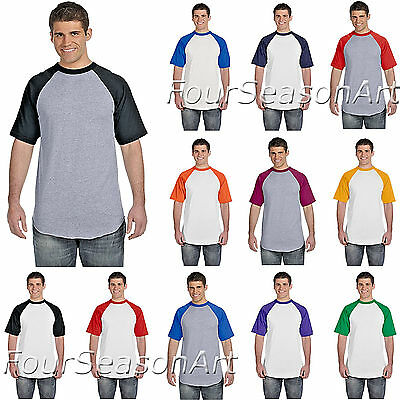 5edca446cd9 Augusta Sportswear Mens Short Sleeve Baseball Jersey Raglan T Shirt S-3XL  423