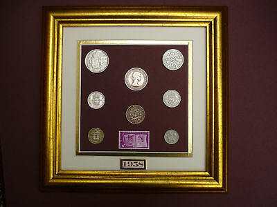 FRAMED 1958 COIN SET 59th BIRTHDAY / ANNIVERSARY GIFT in  2017