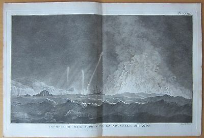 Cook: *Ship in a Strom New Zealand - 1774