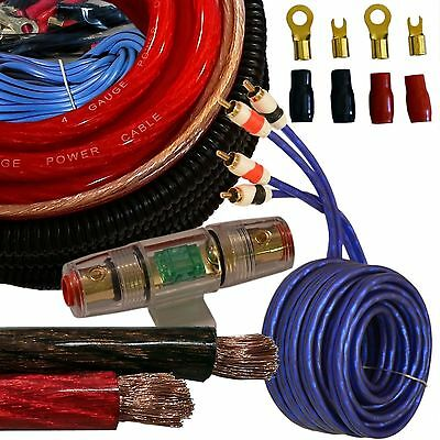 3000W Larger than True 4 Gauge Amp Wiring Value Kit - 4 AWG Amplifier Install