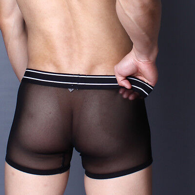 Boxer Noir taille M  transparent sheer sexy superbody by neofan Ref S18