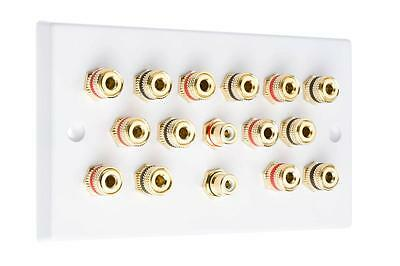 7.2 White Speaker Audio Wall Face Plate Solder-less