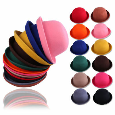 UK Lady Vogue Vintage Women's Wool Cute Trendy Bowler Derby Hat Fashion M001